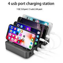 Çoklu usb şarj istasyonu samsung huawei QC3.0 ŞARJ tutucu 4 port şarj dock iphone xiaomi tablet ab ABD İNGILTERE AU TAK