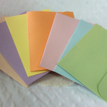 100 pcs/set Vintage Small Mini Kraft Paper Window blank Envelopes wedding invitation envelope gift Ancien 16*11cm