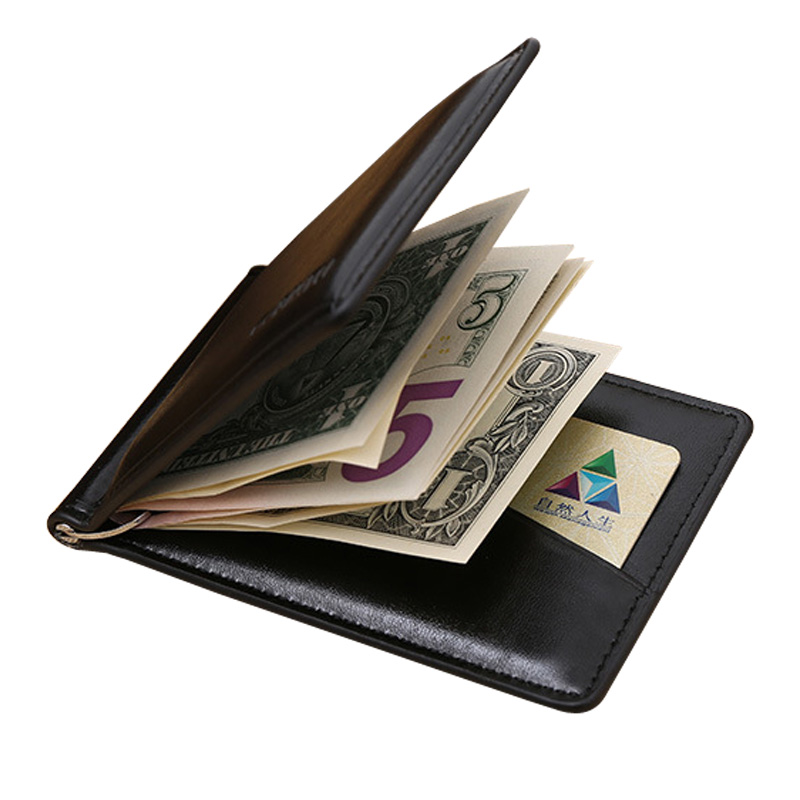 Famous GUBINTU brand Men's leather money clip wallet with coin pocket magnet hasp portable man purse with card slot pu leather wallet men luxury famous brand designer coffee money clip open clamp clip carteira magica bid083 pm49