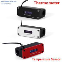 BARROW OLED Digital Display Water Temperature Meter Water Cooler System 2pcs G1 4 Thermometer Temperature Sensor