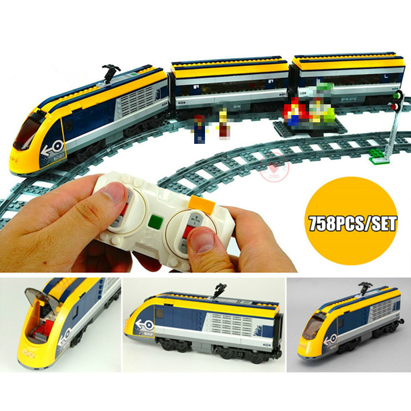 New Motor Power Up function RC Train Station fit technic train track city figures Building Blocks