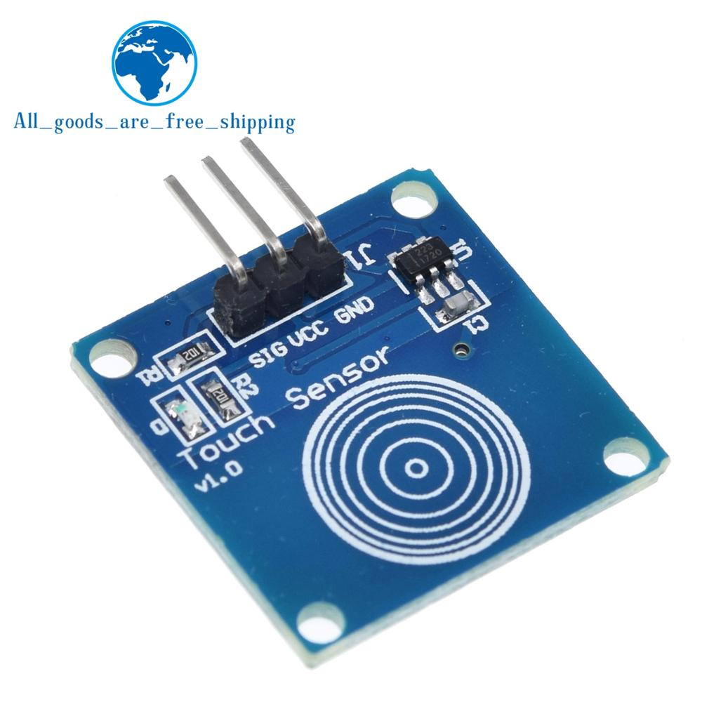 TTP223 Touch Switch Module TTP223B 1 Channel Jog Digital Capacitive Touch Sensor button for arduino DIY KIT Condition:New Type:Voltage Regulator Supply Voltage:2 ~ 5.5V Model Number:TTP223B Digital Touch Sensor Application:Digital Touch Sensor Package included: 1 × TTP223 1-way capacitive touch switch digital touch sensor module switch button.