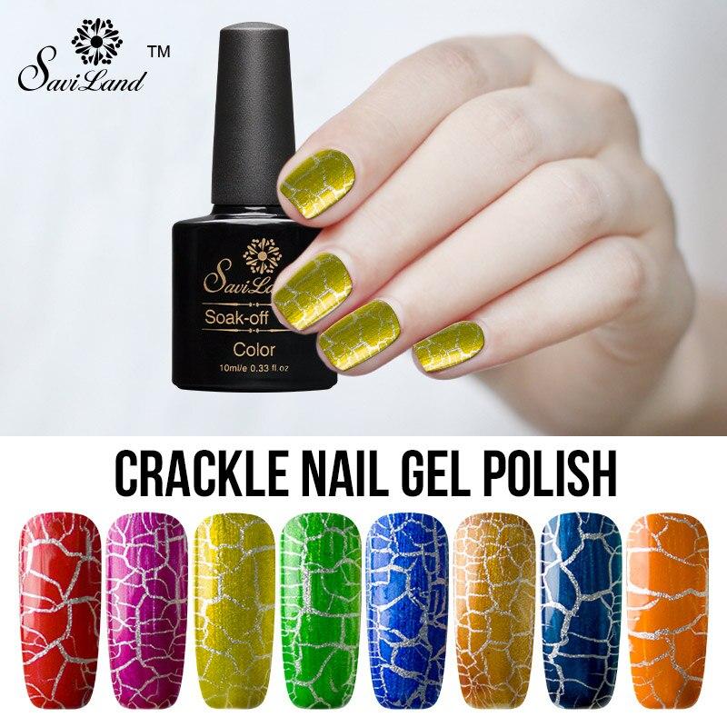 Saviland 1pcs Crack Nail Polish Wholesale Cracks UV Gel