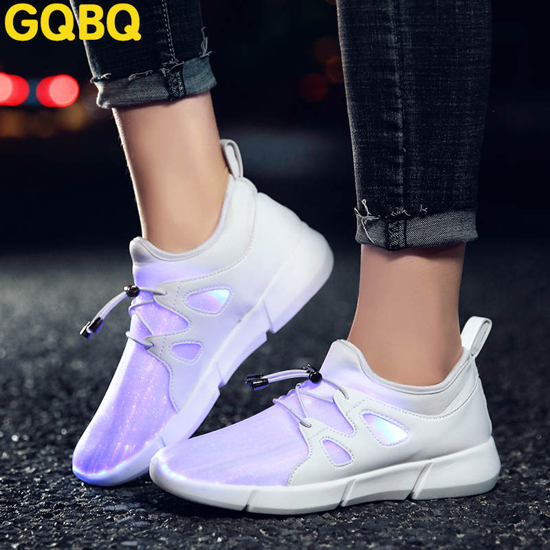 Nice Children Safety Luminous Sports Shoes Quality Leather Kids Led Flash Shoes Usb Rechargeable Kids Sneakers Kids Walking Shoes High Quality Materials Mother & Kids