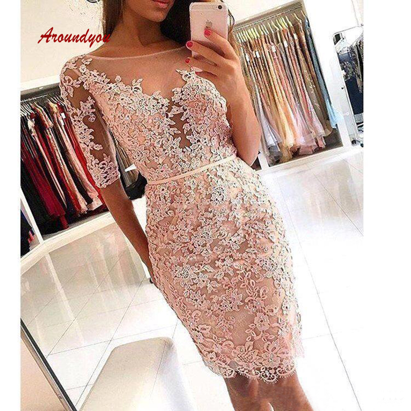 Sexy   Cocktail     Dresses   Plus Size Knee Length Semi Formal Graduation Prom Party Homecoming   Dresses
