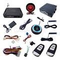 Código Hopping inteligente Sistema De Alarme PKE Push Botão de Parada de Partida Do Motor Do Carro Com Sensor de Choque Janela Rising Saída