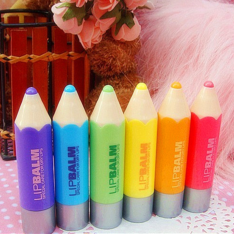 Portable Nourishing Moisturizing Repair Fruit Nature Organic Lip Balm Cute Cartoon Lipstick Balm Fruit Lip Balm