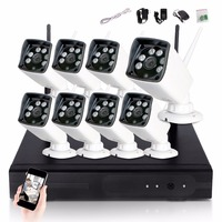 CCTV System 1080P 8ch HD Wireless NVR Kit Outdoor IR Night Vision 2 0MP Camera Wifi