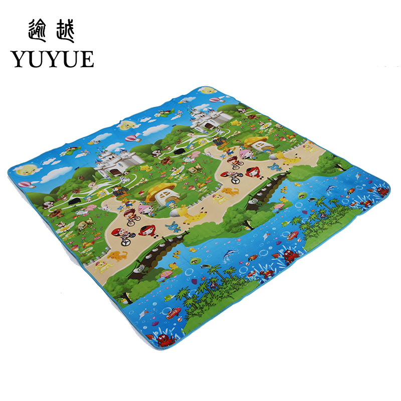 150*180cm waterproof aluminum picnic mat cartoon design for children climb mats baby crawls cushioning mat playmat 0