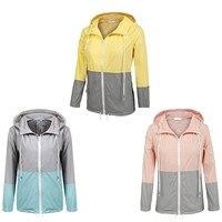 Spandex Solid Stitching Women Raincoat Fashion Impermeable Lady Rain Coat Waterproof Windproof Outdoor Rain Jacket Rainwear