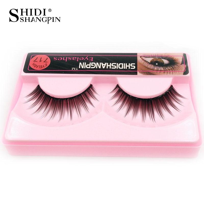1 pair Natural False Eyelashes Thick Make Up Long Eyelash Extension Fake Lashes Makeup cilios P717