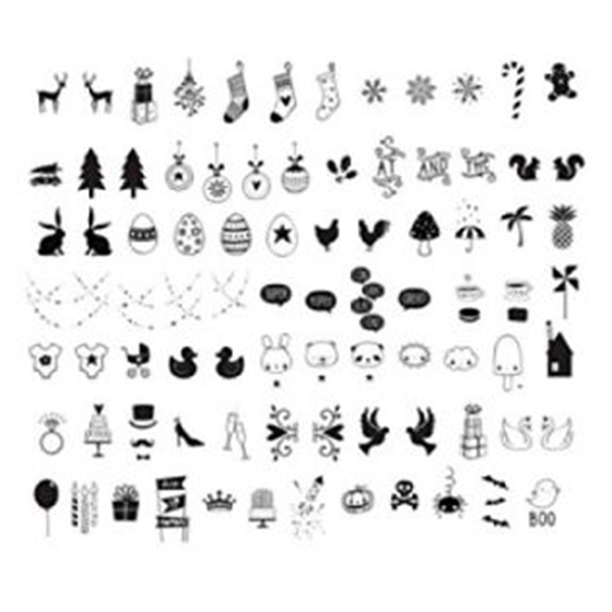 Celebration Symbols Letter Pack For A4 / A5 CINEMATIC LIGHTBOX - celebration letter