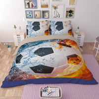 New Kids Soccer Bedding Set 3D Football Duvet Cover Bedsheet Pillowcase Twin Full Queen King Size