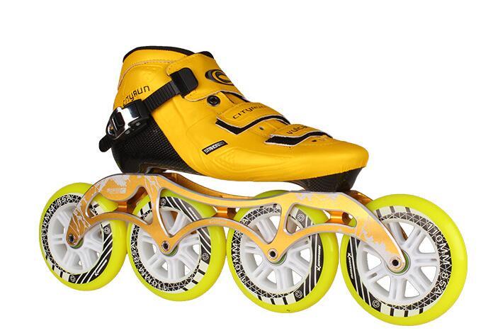 Haute qualité! XW patins à roues alignées chaussures professionnel adulte enfant patins à roues alignées 4 roues patinage de vitesse hommes/femmes patines