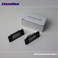 For Skoda Fabia 1999 2014 Yeti 2009 2013 LED Car License Plate Lights Number Frame Light