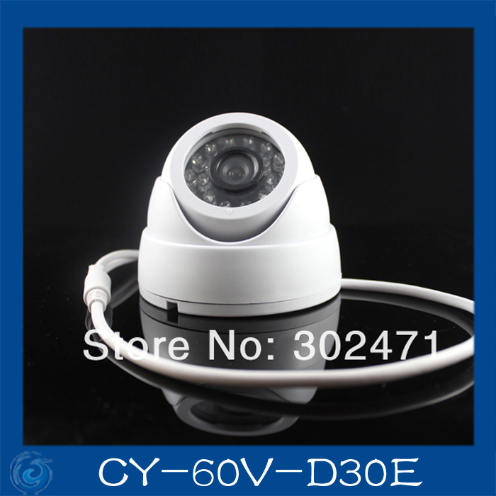 CCD Effio-e 700TVL Sony 811+4140  24 IR LEDS indoor CCTV camera security night vision camera dome camera 3.6mm lens.CY-60V-D30E
