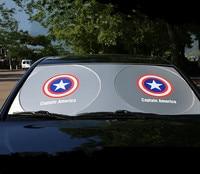Janela uv capitão américa superman batman pára-brisa pára-sol janela do carro pára-brisas capa sol sombra auto viseira carro-tampas