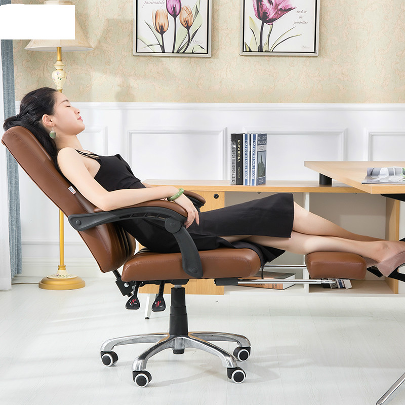 Ergonomic Leather Executive Office Chair Gaming Computer Chair Lifting 360 Degree Swivel Lying Footrest bureaustoel ergonomisch 240340 high quality back pillow office chair 3d handrail function computer household ergonomic chair 360 degree rotating seat
