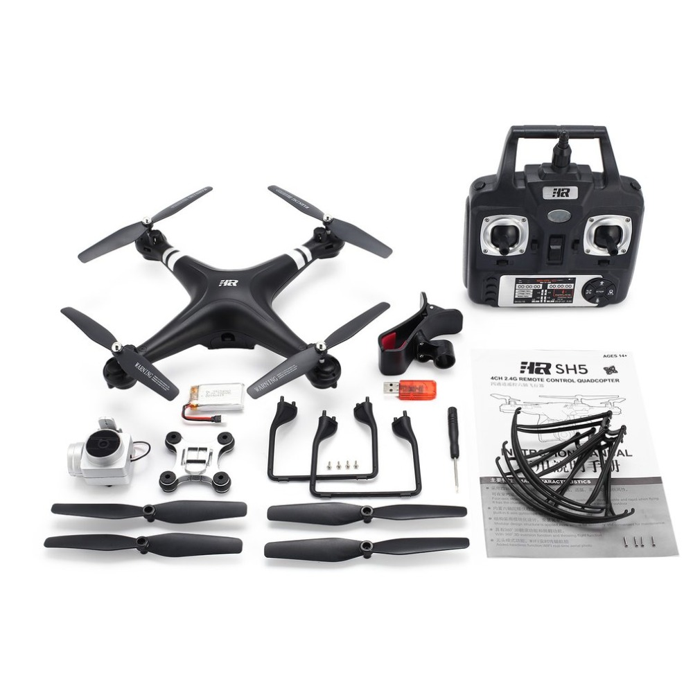 SH5H 2.4G FPV Drone RC Quadcopter with 1080P Wide Angle Wifi HD Camera Live Video Altitude Hold Headless Mode One Key Return jjrc h8d 2 4ghz rc drone headless mode one key return 5 8g fpv rc quadcopter with 2 0mp camera real time lcd screen s15853