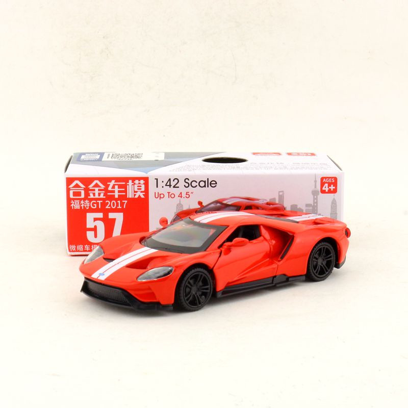 Box Gift Model,High Simulation 1:42 Alloy Pull Back Ford Mustang GT 2017,Original Packaging,selling Toys,free Shipping