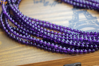 TopGoods Natural AAAA High Quality Purple Amethysts Crystals Round Loose Beads 6mm Women Jewelry DIY Necklaces