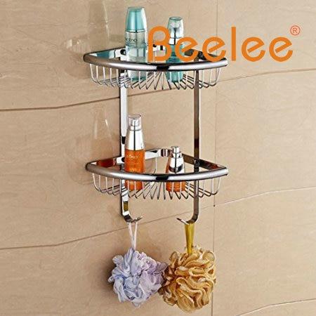 Beelee Wall Mounted Corner Shower Wire Basket 2 Tiers Shower Caddies ...