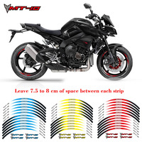 New Motorcycle 1set front&rear edge rim 17inch wheel decals Reflective stickers For YAMAHA MT 10 Reflective stickers