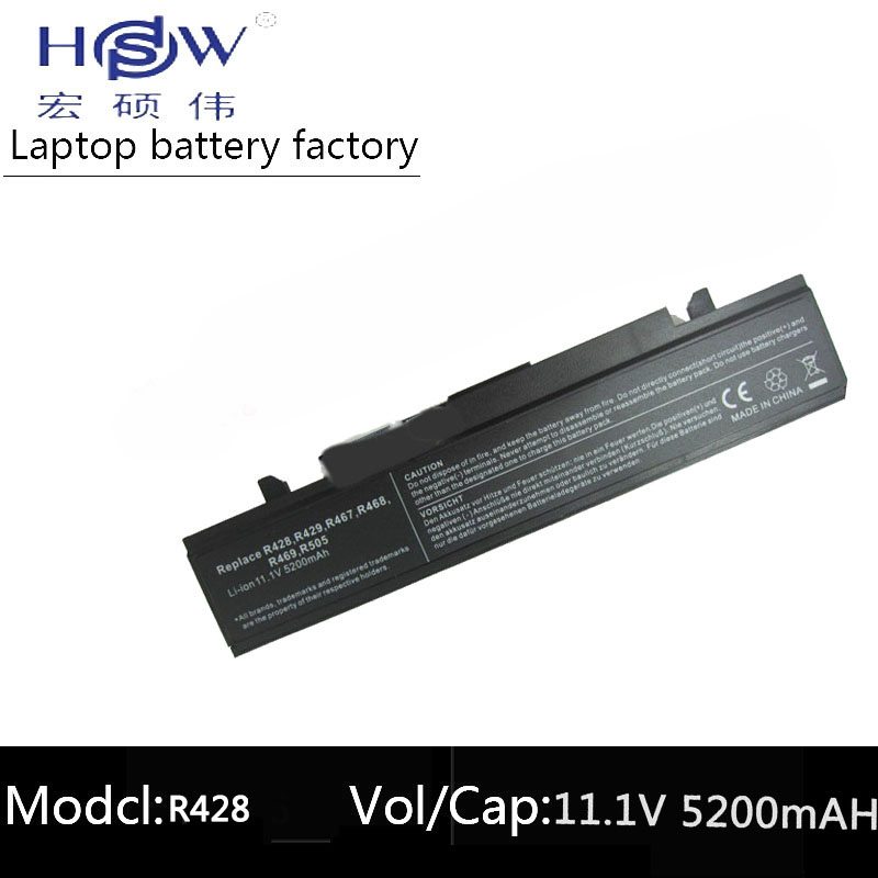 HSW Laptop Battery for SAMSUNG R428 R429 R430 R467 R468 R478 R528 R530 AA PB9NC6B AA PB9NC6W AA PB9NS6B AA PB9NS6W battery in Laptop Batteries from Computer Office