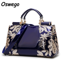Luxury Design Fashioh Brand Women Bag Sequined Embroidery Genuine Leather Handbags Messenger Bag Tote Case for
