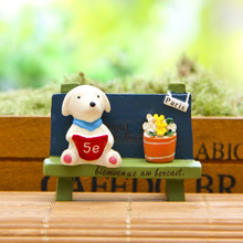 Action Figures Micro Landscaping Gardening Accessories Doll Grocery Bench Reading Book Puppy Resin Decorative Gift Toys