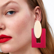 New Style Fashion Big Resin Drop Earrings For Women 2019 Acetic Acid Large Korea Square Trendy Geometric Jewelry