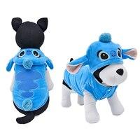 Hond Puppy Kleding Schattige Steek Huisdier Kleding Kostuums Zachte Jas Hoodie 5 Maten Huisdier Halloween Kleding Leuke Cartoon Hond Hoody