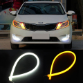 Decorative Light With Turn Signal Car Styling Headlight LED Tube Strip Flexible Daytime Running Lights 60cm DRL Angel Eyes light