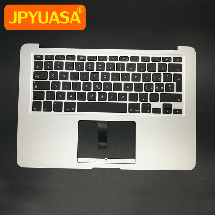 New Top Case Palmrest with Swiss Keyboard For Macbook Air 13 Topcase keyboard Switzerland Layout A1466 2013 2014 2015 portugal brazil br layout new laptop keyboard with touchpad palmrest for samsung series 5 550p5c np550p5c
