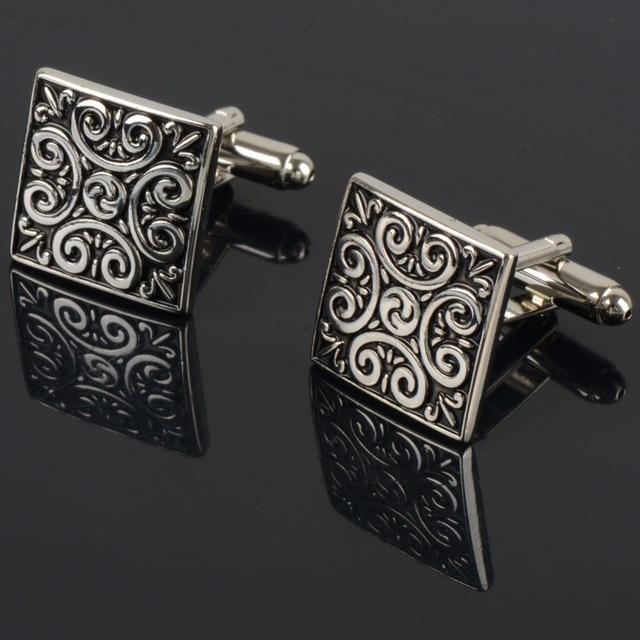 Square Imperial Trellis Shaped Cufflinks