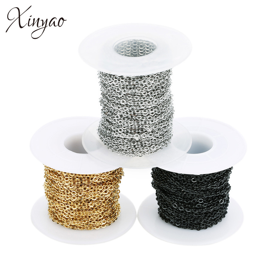 1mm Golden 10 Yard Per Roll DIY Long Chain for Jewelry Making Necklace DIY Crafts Gold