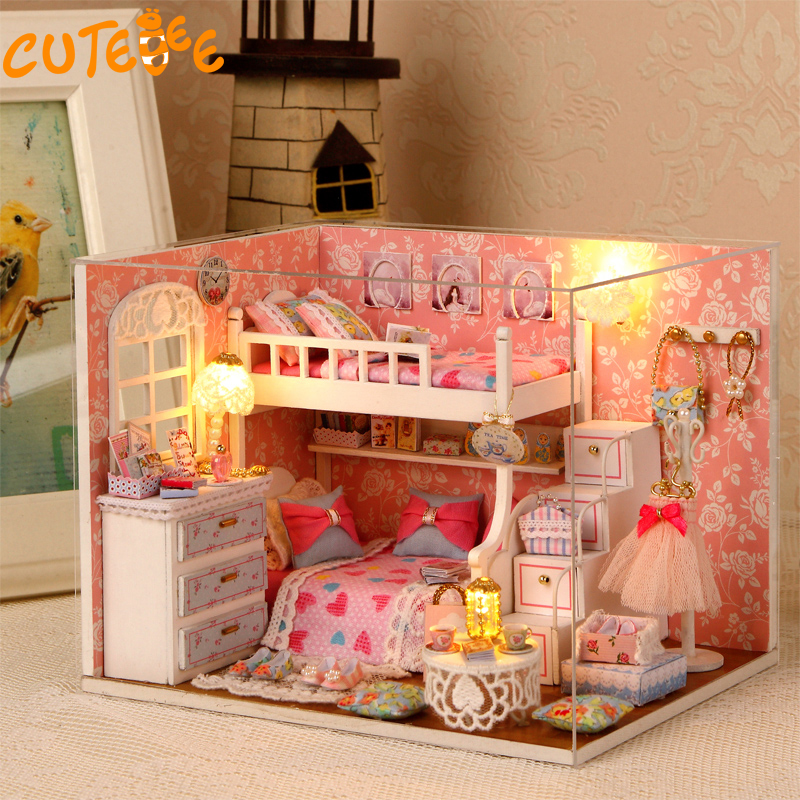 Handmade Doll House Furniture Miniatura Diy Doll Houses Miniature Dollhouse Wooden Toys For Children Grownups Birthday Gift H06