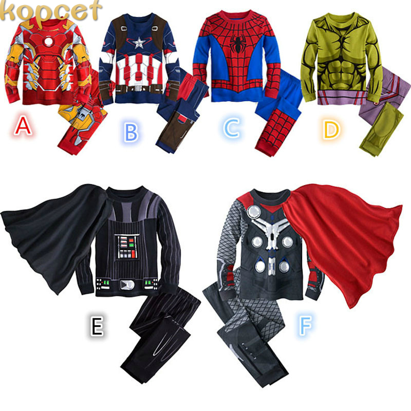 Spider Man Pyjamas Children Clothing Christmas Spiderman Cosplay Costume Kids Batman Ninjago Pajama Sets Toddler Baby Sleepwear