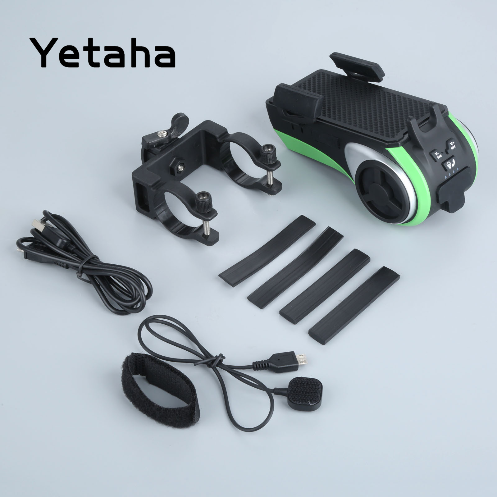 Yetaha Multifunction MP3 Music Player Motorcycle Audio Waterproof Moto Speakers With Lights Power Bank Mobile Phone Holder