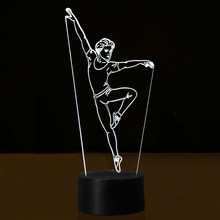 Creative 3D USB Illusion Color Boy Ballet Dancer Desk Lamp Children Birthday Gifts LED Night Lights For Baby Room Decor Lighting(China)