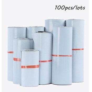100Pcs/Lot Samll Size Courier Bags White Self-seal Adhesive Storage Bags Plastic Poly Envelope Mailer Postal Mailing Bags