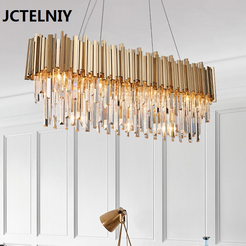 Luxury crystal chandelier gold shine living room lamp hotel decoration can be customized size led crystal chandelier lamp can be customized stainless steel restaurant