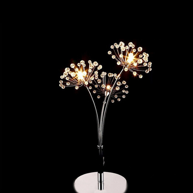 Moderne Nordic Crystal LED Tafellamp Romantische Paardebloem ...