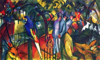High quality Oil painting Canvas Reproductions Zoological Garden I (1912) By August Macke hand painted