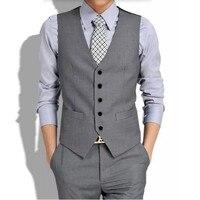 دعوى جديدة ma3 jia3 رمادي الرجال صدرية مخصص العريس البدلات الرسمية الزفاف سترة عالية الجودة الرجال الدعاوى التجارية الرسمية صدرية