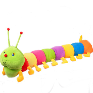 Colorful Caterpillar Big Insect Toys Plush Toy Doll PP Cotton Caterpillar Toy Pillow for Children Adult Gifts(China)