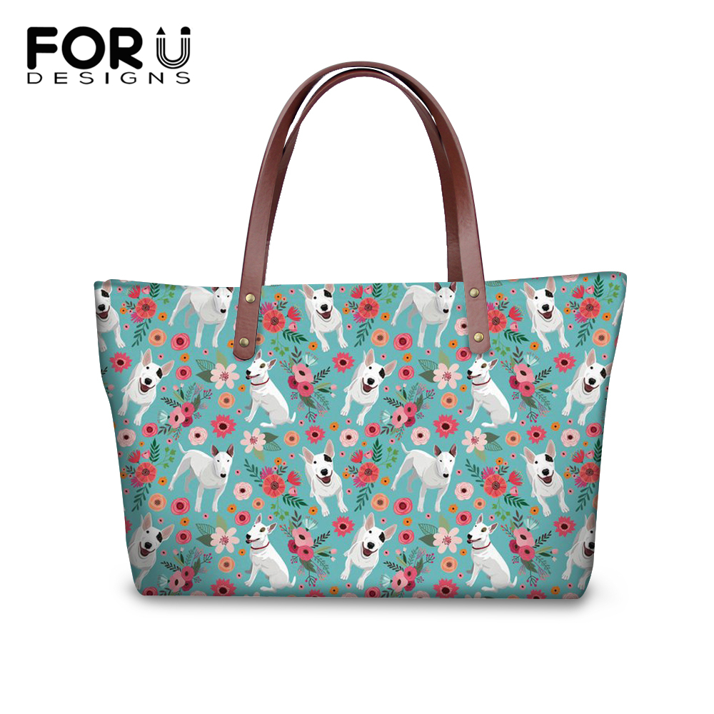 FORUDESIGNS/2018 модные Tote искусственная кожа Для женщин сумка питбультерьер Канада дизайнерские сумки Сумки для Для женщин Повседневное Tote