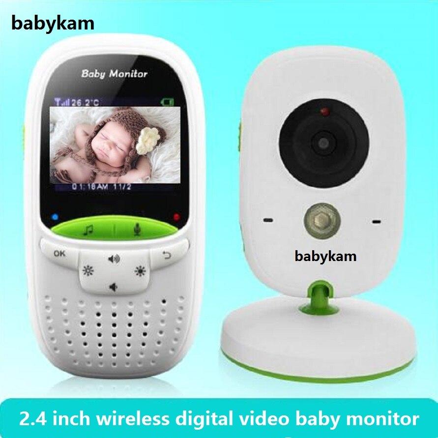Babykam bébé téléphone caméra bébé moniteur vidéo nounou 2.0 pouces LCD IR Vision nocturne moniteur de température 8 berceuses vidéo interphones