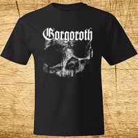 LEQEMAO New Gorgoroth Skull Logo Death Metal Rock Band Men S Black T Shirt Size Man
