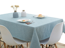 YO HOOM Kitchen Cotton Tablecloth Tablecover Coffee Table Cloth Table Cover Simple Color Optional yo hoom kitchen cotton tablecloth tablecover coffee table cloth table cover simple blue color optional